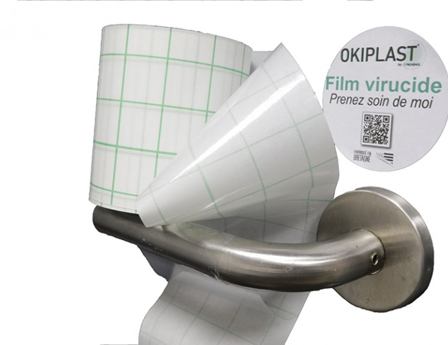 OKIPLAST® BRV- PVC 100μ brillant adhésif semi-permanent